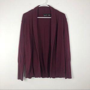 4/25$ Kersh Womens Maroon Cardigan Size S